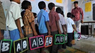 English class in India