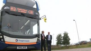 Stagecoach bus with contactless payment