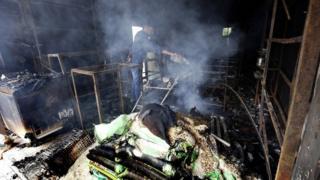 Kerusakan akibat kerusuhan di Kandy
