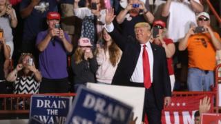 Presiden AS Donald Trump berbicara dalam sebuah kampanye di Harrisburg, Pennsylvania. Photo: 29 April 2017