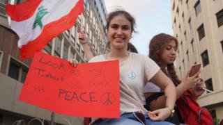 Lebanese demonstrators who spoke to the BBC about why they are protesting