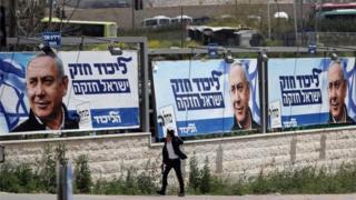 Netanyahu campaign posters in Jerusalem (07/04/19)