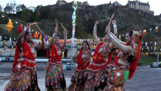 Dancers rehearse for Diwali