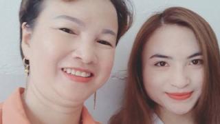 Bà Trần Thị Hiền cùng con gái Cao Mỹ Duyên