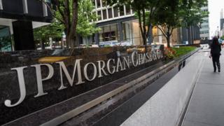 Exterior of JP Morgan Chase HQ in New York