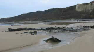 SS Fernebo wreck on Norfolk beach