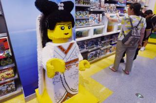 Display in lego store