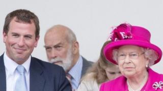 女王和彼得·菲利普斯
