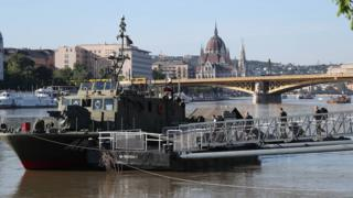 A military vessel on the Danube River