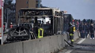 Italy school bus hijacked