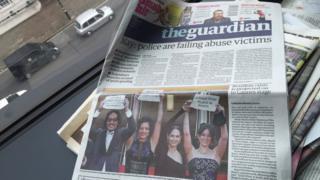 Capa do jornal Guardian