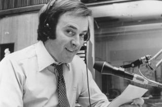 Terry Wogan working as a disc jockey in January 1980
