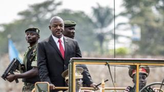 Picture of Burundi President Pierre Nkurunziza