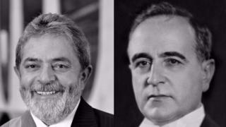 Ex-presidentes Lula e Getúlio Vargas, em montagem