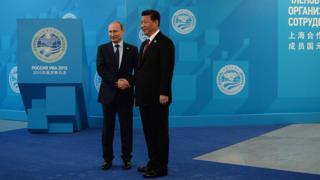 Владимир Путин и Си Цзиньпин в 2015 году