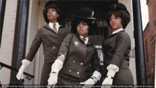 1964年,至上女聲在倫敦。
