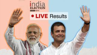 Lead Indian candidates Narendra Modi and Rahul Gandhi