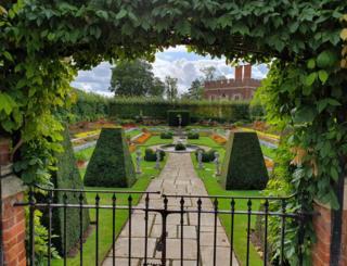 Gardens behind a gate