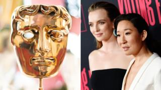 Bafta trophy, Jodie Comer and Sandra Oh