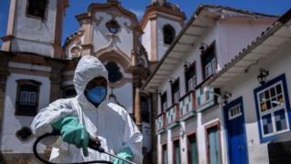 Дезинфекция в бразильском Ору-Прету