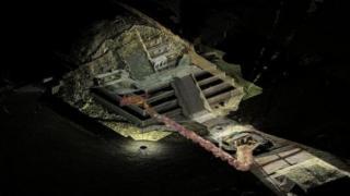 Ilustração representa túnel descoberto no México