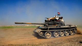 Tanque das forças do governo sírio