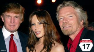 Donald and Melania Trump with Richard Branson in New York - 24 July 2002