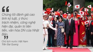 Chủ tịch nước Trần Đại Quang là nguyên thủ nước ngoài đầu tiên thăm cấp Nhà nước tới Nhật Bản trong năm 2018.