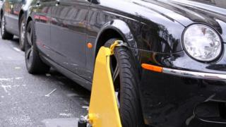 Untaxed car clamped