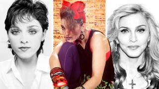 Photo composite of Madonna throughout her career