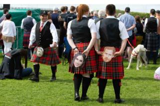 Meghan and Harry at the piping championships