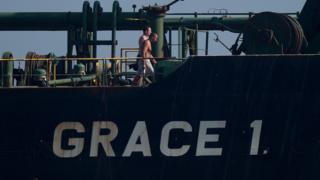 ناقلة النفط الإيرانية غريس وان المحتجزة لدى جبل طارق