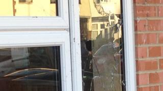 Scene of shooting in Bouncers Lane, Cheltenham