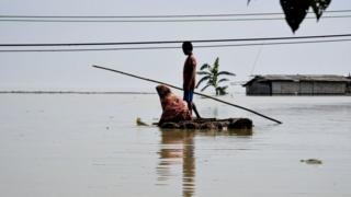 Assam: Fifty dead and two million hit by India monsoon floods