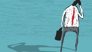 Ilustração de homem transtornado