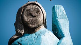 Melania Trump statue in Slovenia