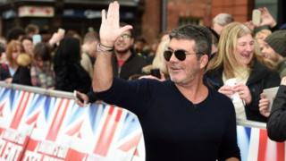 Simon Cowell attending the auditions for Britain's Got Talent at the Birmingham Hippodrome Theatre