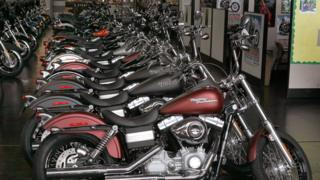 Harley-Davidson motorcycles are offered for sale at Chicago Harley-Davidson