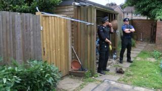 Police at Harefields crime scene