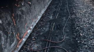 Fire damaged cables