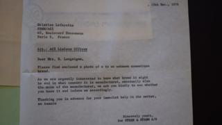 """Письмо норвежской полиции парижскому универмагу """"Галерея Лафайет"""""""