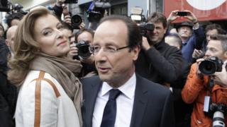 Valerie Trierweiler and Francois Hollande pictured together in 2012. The couple split in 2014.