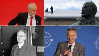 Jeremy Corbyn, Lenin, Tony Blair, Friedrich von Hayek