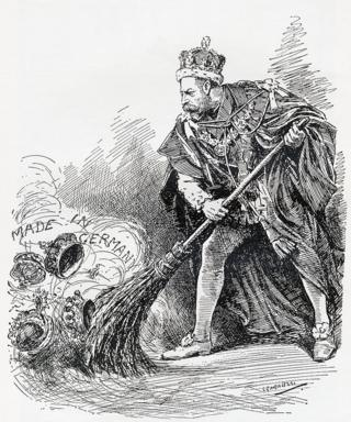 "Карикатура из журнала ""Панч"" 1917 года"