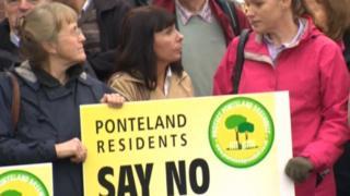 Ponteland protest