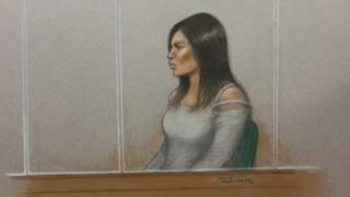 Court sketch of Safaa Boular