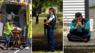 Imágenes después del ataque en Nueva Zelanda.
