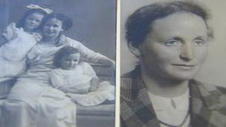 Kaethe Bosse with her daughters and Kate Bosse-Griffiths