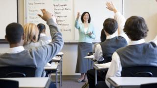 generic teacher in classroom