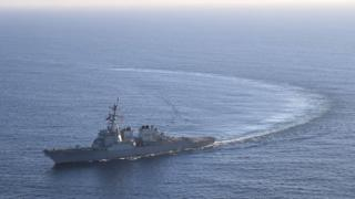 The US Navy guided-missile destroyer USS Donald Cook